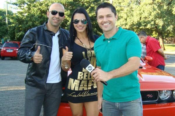 Árbitro Pierre Gonçalves de Lima encarnou o Vin Diesel em Porto Alegre (Foto: Divulgação/RBS TV)