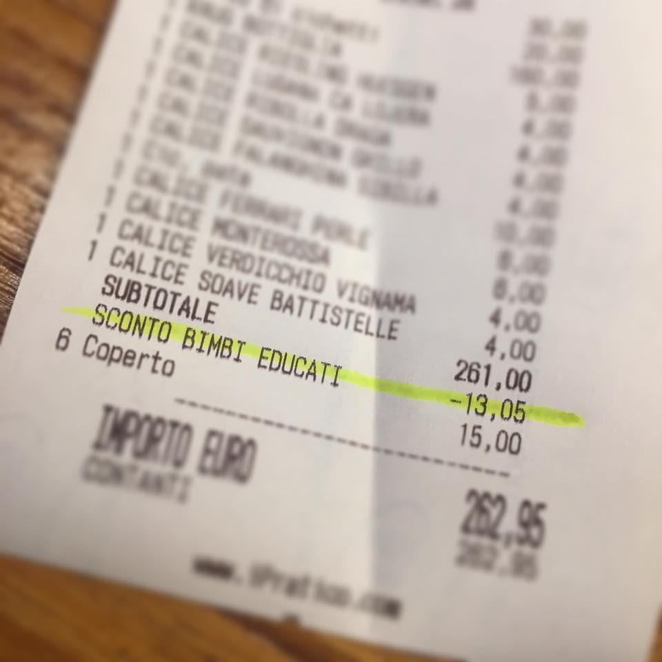 Restaurante Italiano dá desconto para crianças (Foto: Reprodução/Facebook)