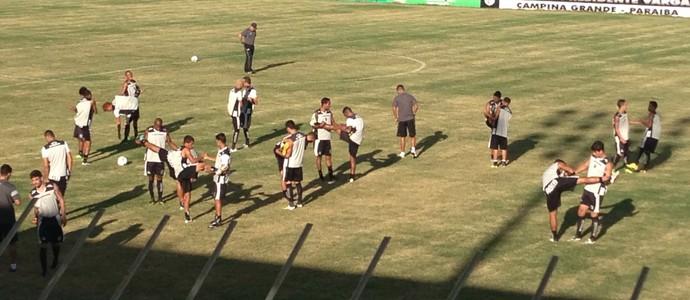 Treino do Treze no PV (Foto: Silas Batista / GloboEsporte.com)