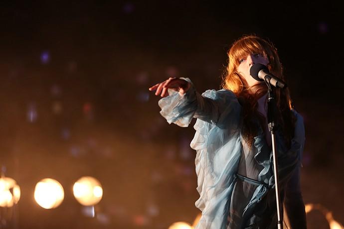 Florence + The Machine no palco do Lollapalooza (Foto: Carol Caminha/Gshow)