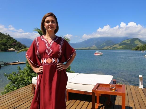 Adriana Esteves é só elogios ao marido Vladimir Brichta (Foto: Hellen Couto/Gshow)