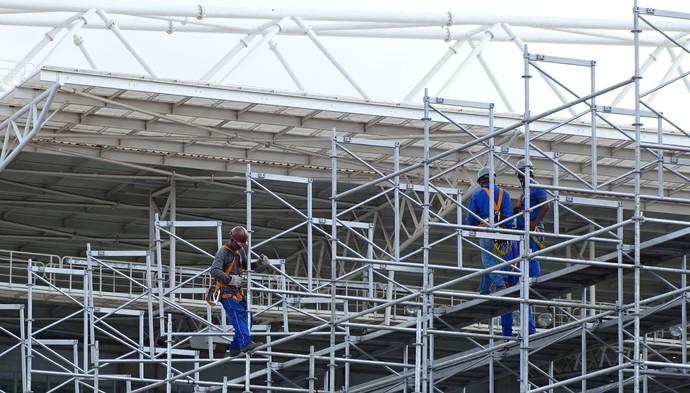 Ampliação do estádio Independência (Foto: Laura Bernardes)