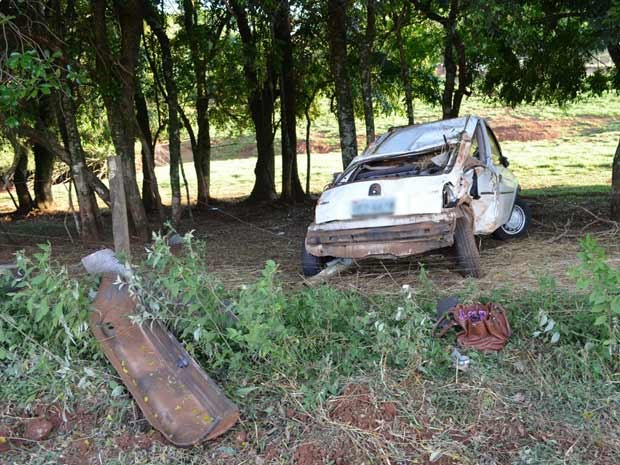 Mulher morreu após sair da pista em Panambi (Foto: Jorge Arruda/Portal Agora Já)