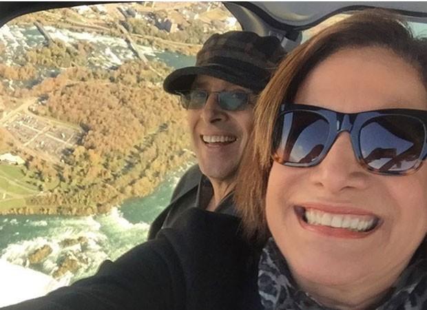 Totia Meirelles e o marido no Canadá (Foto: Reprodução/Instagram)