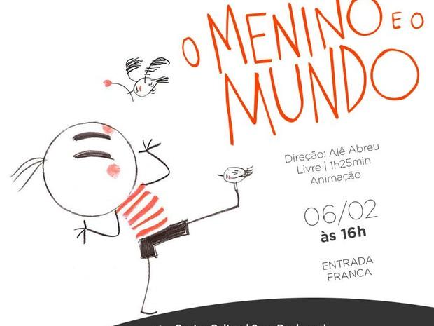 'O menino e o mundo' é exibido no sábado (6) em Belém (Foto: Divulgação / Sesc Boulevard)