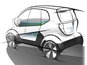 Micro Commuter Prototype β será um veículo para curtas distâncias (Foto: Divulgação)
