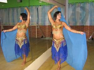 Caracterizada para cair na dança (Foto: arquivo pessoal)