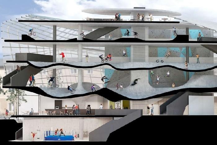 Primeiro prédio de skatepark no mundo