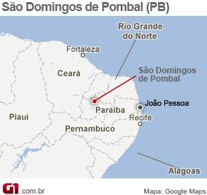 São Domingos de Pombal (Foto: Arte/G1)