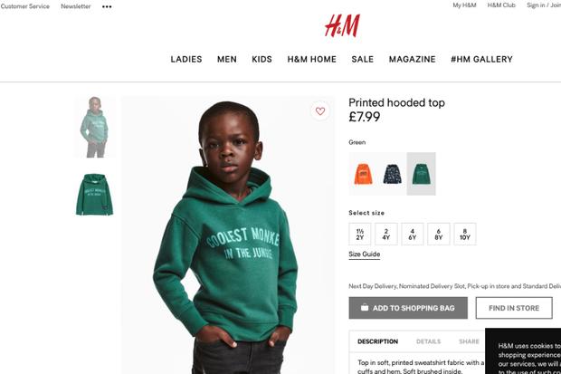 Moletom da campanha racista da H&M (Foto: reprodução )