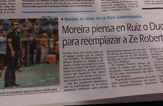 grêmio jornal argentina (Foto: Diego Guichard/Globoesporte.com)