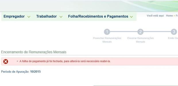 """Roberto Engels Garay, de Porto Alegre, reclama que gerar guia no eSocial """"é uma saga"""" (Foto: Roberto Engels Garay/Vc no G1)"""