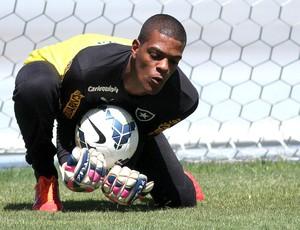 Saulo, Treino Botafogo (Foto: Vitor Silva / SSpress)