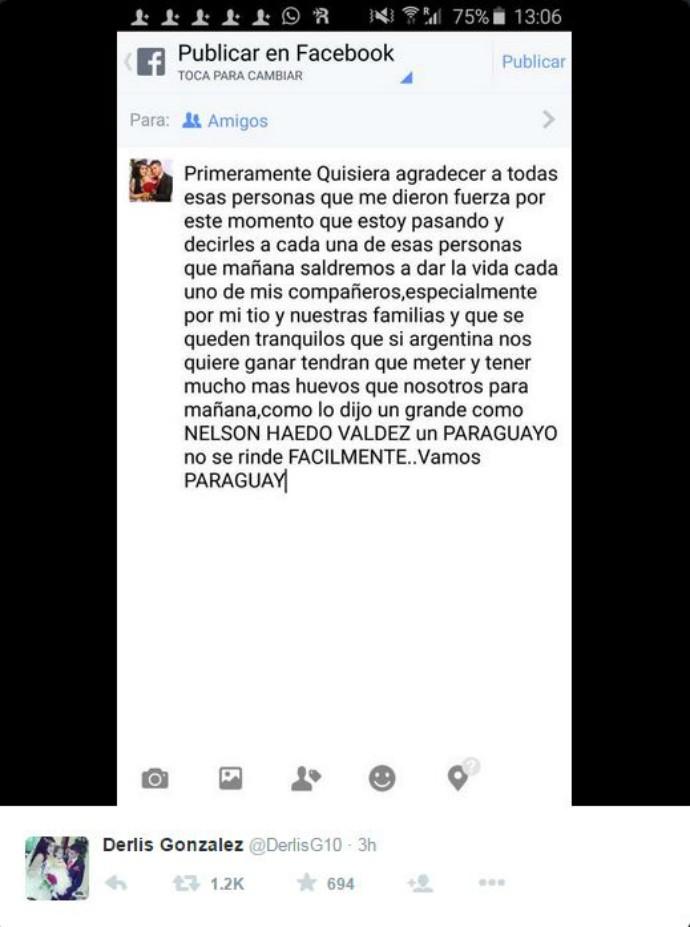 twitter Derlis González