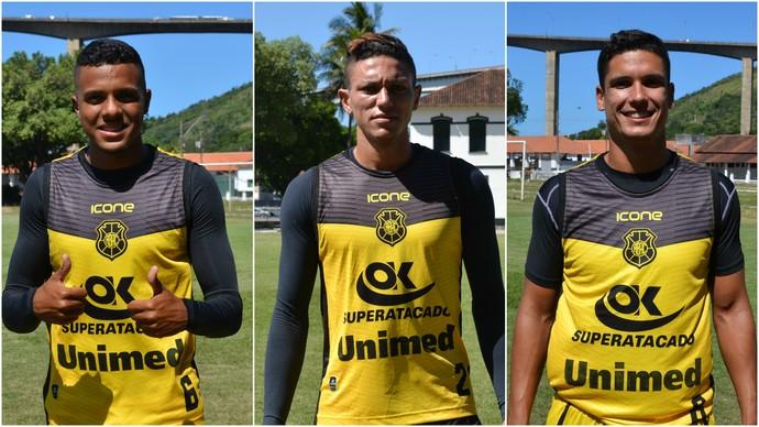 Saulo, Harrison e Henrique (Foto: Sidney Magno Novo/GloboEsporte.com)