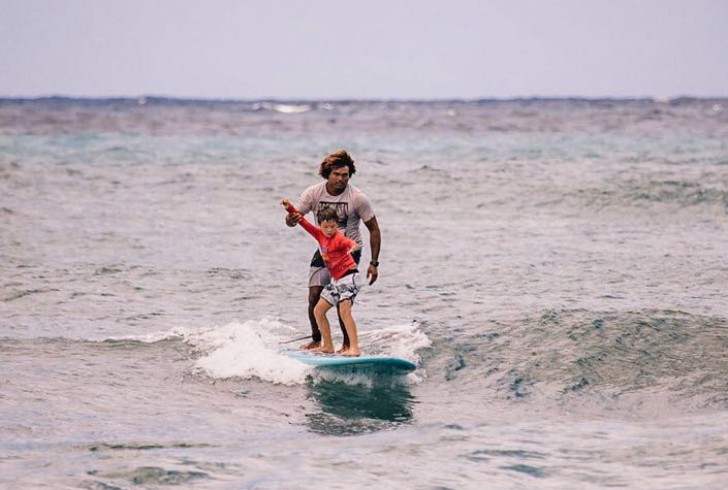 Sergio Lima e aula de surfe Havaí 2