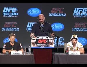 Coletiva do UFC 149 (Foto: Reprodução/Youtube)