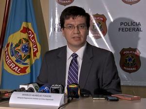 Delegado Marco Aurélio Faveri diz que prejuízos são de pelo menos R$ 30 milhões (Foto: Reprodução/TVCA)
