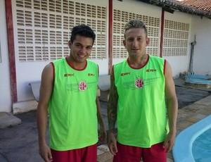 Láercio e Aldair, atacantes do América-RN (Foto: Divulgação/América-RN)