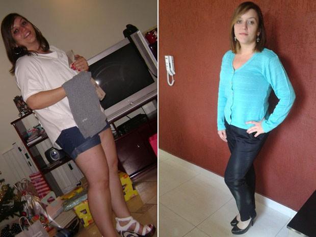 Emilene Lopes Galdino emagreceu quase 22 kg em 6 meses (Foto: Arquivo pessoal/Emilene Lopes Galdino)
