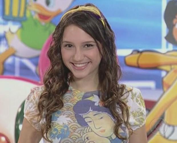 A atriz apresentou a atração entre 2009 e 2010 (Foto: Arquivo Pessoal)