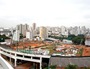 obras no estádio do Palmeiras (Foto: Anderson Rodrigues / Globoesporte.com)