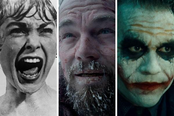 Janet Leigh, Leornado DiCaprio e Heath Legder sofreram muito ao interpretarem papéis icônicos do cinema  (Foto: Reprodução)
