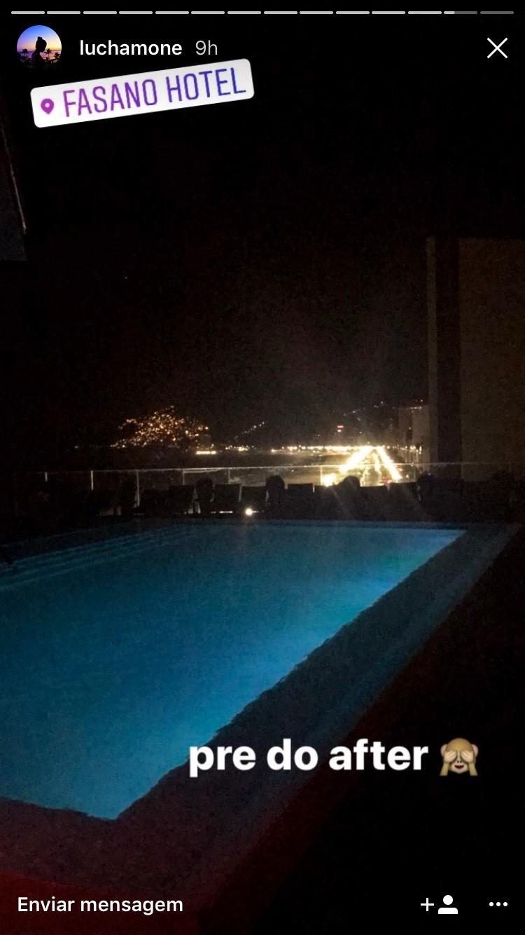 """Luciana Chamone: """"pré do after"""" de Bieber no Hotel Fasano (Foto: Instagram/Reprodução)"""