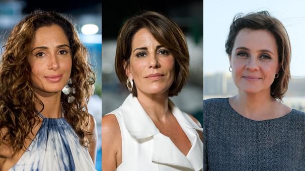 Camila Pitanga, Gloria Pires e Adriana Esteves vivem as protagonistas de Babilônia, novela das nove que estreia no dia 16 (Foto: Globo)