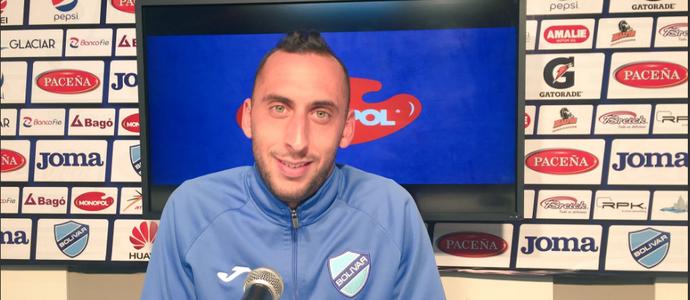 Mauricio Prieto, jogador do Bolivar (Foto: Reprodução SporTV)