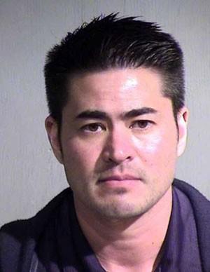 Thomas Beatie foi preso acusado de perseguir sua ex-esposa (Foto: Maricopa County Jail)