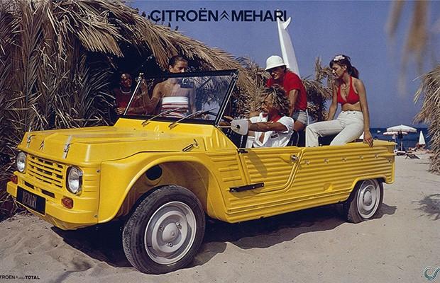 O minimalismo do Citroën Mehári original combinava com praias (Foto: Divulgação)