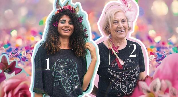 1 e 2. Camiseta, R$ 99,90 (cada), Ziovara (Foto: Divulgação)