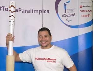 Clodoaldo Silva nadador tocha paralímpica (Foto: Divulgação)