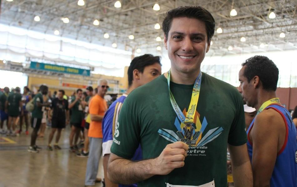 Apresentador do Jornal do Amazonas, Thiago Moraes, competiu pela primeira vez (Foto: Katiúscia Monteiro/ TV Amazonas)
