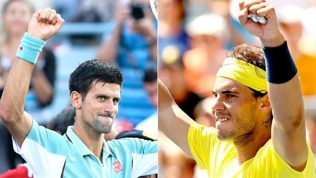 Novak Djokovic e Rafael Nadal (Foto: Montagem SporTV)