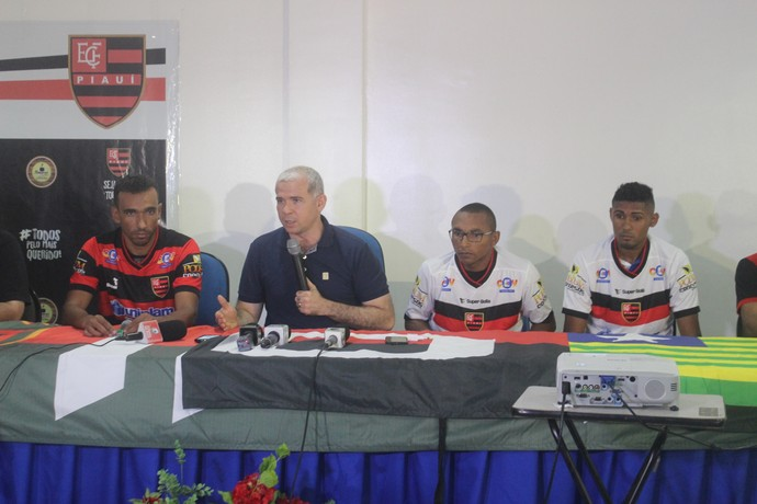 Tiago Vasconcelos Flamengo-PI (Foto: Stephanie Pacheco)