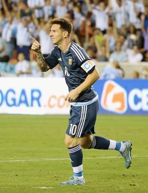 Messi comemora gol pela Argentina (Foto: Scott Halleran/Getty Images)