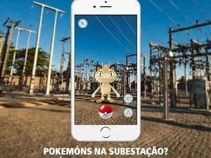 Celpe orienta jogadores a não passar por locais próximos a subestações da companhia (Foto: Celpe/Divulgação)