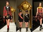 Moschino apresenta coleção com inspiração escocesa na Semana de Moda de Milão