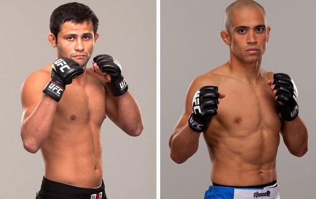Montagem UFC  Jussier Formiga x Chris Cariaso (Foto: Agência Getty Images)
