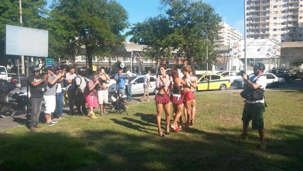 Vanessa Mesquita, Cacau Colucci, Valentina Francavilla e Bianca Leão posam para marca de lingerie (Foto: Divulgação)