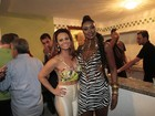 Cris Vianna recebe Viviane Araújo na quadra da Imperatriz