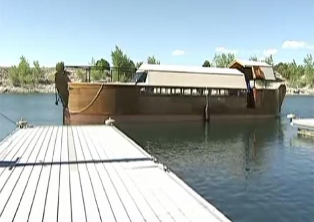 Larry Grabill diz ter construído uma réplica em escala menor da Arca de Noé.  (Foto: Reprodução)