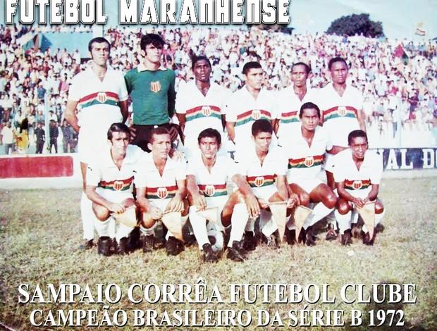 Time que venceu o Brasileiro da Série B de 1972 (Foto: Divulgação/Sampaio)