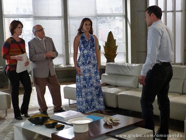Paloma, Lutero e Joana contam a verdade para Bruno (Foto: Amor à Vida/ TV Globo)