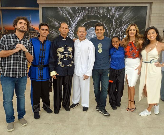 Mais um clique dos bastidores do programa desta quinta-feira, 3/11 (Foto: Juliana Hippert/Gshow)