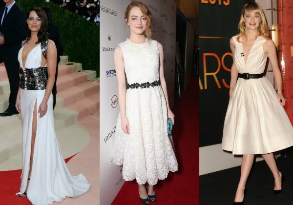 Modelos brancos escolhidos por Emma Stone (Foto: Getty Images)