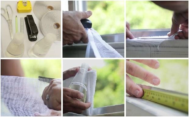Gilmar mostra como montar uma tela protetora contra mosquitos (Foto: Divulgao/ GNT)