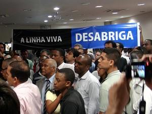 Audiência sobre a Linha Viva, em Salvador, Bahia (Foto: Lílian Marques/ G1)